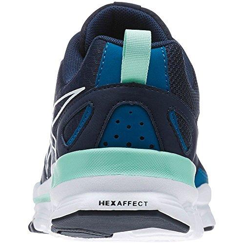Reebok - Hexaffect Run - M47780 - Colore: Azzuro-Blu marino - Taglia: 38.5