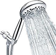 "Shower Head, SR SUN RISE 6-Settings 4.8"" High Pressure Handheld Shower Head Set with 2.45 Meter/96 Inch/"