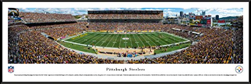 Pittsburgh Steelers Heinz Field Framed - Pittsburgh Steelers - 50 Yard - Day - Blakeway Panoramas NFL Posters with Standard Frame