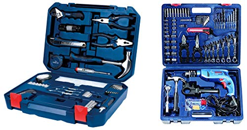 Bosch GSB 550 Mechanic Kit Professional & 2.607.002.790 All-in-One Metal Hand Tool Kit (Blue, 108-Pieces) Combo Price & Reviews