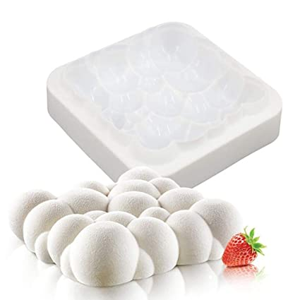 Coogel 3D Bolle Cielo Nuvola Stampo per Torte in Silicone Colore ...
