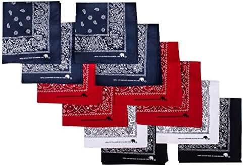 Elephant Brand Bandanas 100% Cotton Since 1898 - 12 Pack