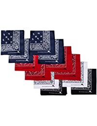 Bandanas 100% Cotton Since 1898-12 Pack Assorted Colors