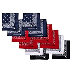 Elephant Brand Bandanas Cotton Since 1898-12 Pack (Assorted Basic)