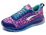 ONEMIX Women's Air Cushiong Running Shoes,Lightweight Sport Athletic Sneakers,Blue/Red,Men 4(M)US 36EU/women 5.5(M)US 36EU