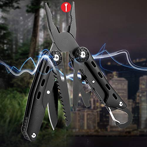 Multitool Plier, 14-in-1 Multitools Folding Plier,High hardness,Durable Stainless Steel for Outdoor Survival, Camping, Fishing, Hunting(black) (Multitool Pliers) (Hunting Tool 1)