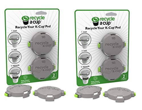 Medelco Recycle A Cup - Coffee or Tea Pod Recycling Tool - Compatible with K-Cups - 2pk