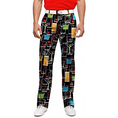 Loudmouth Golf Clothing Mens Pants Happy Hour Men's Pant (34 Length, 34