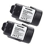 2x Masione 2000mah Li-ion Battery For Bosch 10.8V Up to 12Volt BAT411 BAT412A PS10 PS30 PS31 PS40 PS70 Flashlight FL10