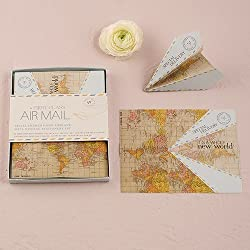 Paper Airplane Wedding Wishing Well Stationery Set
