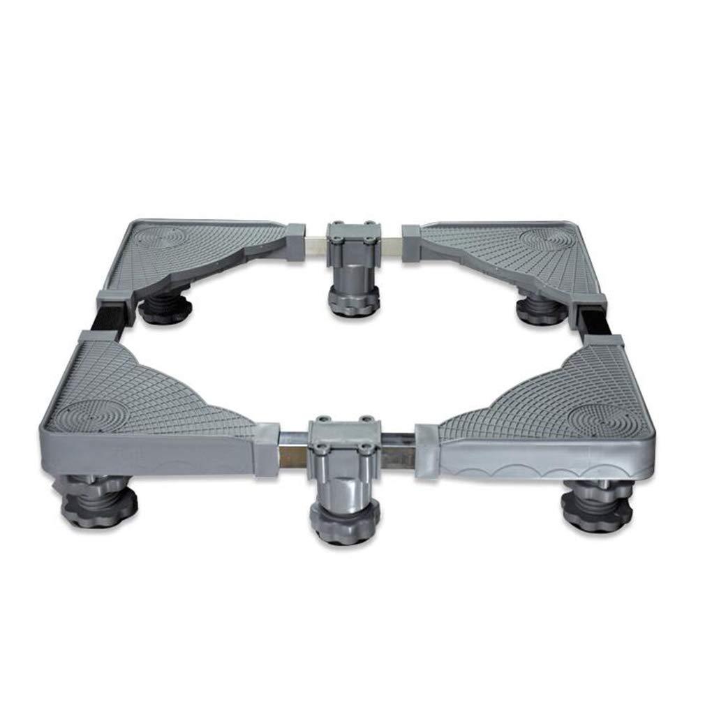 多機能ベース、ステンレス製固定ブラケット、調節式伸縮式洗濯機ベース、洗濯機用冷蔵庫 (色 : B)  B B07L4JGD72