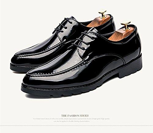Herbst Herren Geschäft Lederschuhe Mode Casual Lederschuhe Low-Top Täglich Walking Schuhe ANTISKID Dämpfung Schuhe 37-44 Black+Red