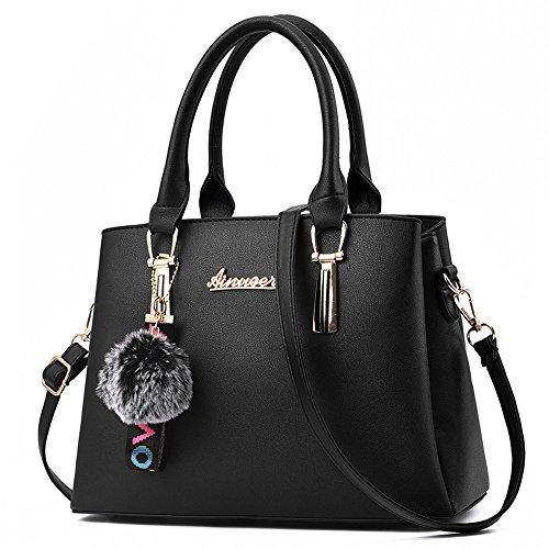 au femme porté black L020 Noir L024UK Sac pour dos Noir MSXUAN à main 4Iw0a