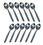 Kuber Industries Stainless Steel Table Baby Spoon Set of 12 Pcs (16 Cm) (SP12)