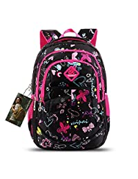 Bebamour Butterfly and Sweetheart Pattern Kids' Backpack School Bags