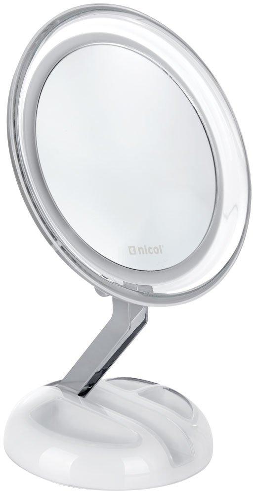 Nicol 4025800.0 Editha Miroir cosmétique - métal - chrome - 19 -1 x 18 -7 x 8.6 cm