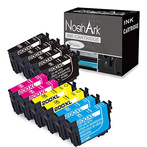 NoahArk Remanufactured Ink Cartridge Replacement for Epson 200 XL 200XL T200XL use for Expression Home XP-200 XP-300 XP-310 XP-400 XP-410 Workforce WF-2520 WF-2530 (4 Black 2 Cyan 2 Magenta 2 Yellow) (Ink Xp200 Epson Cartridges)