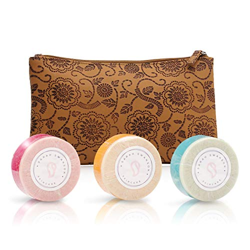 Sarah Swanson Beauty Soap Bar with patented built in loofa made with all-natural essential oils and finest ingredients handmade by a respected skincare expert Great Gift Idea (3-Pack)