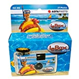 Agfa LeBox Ocean 35mm Waterproof Disposable Camera, 27 Exposure, ISO 400 Color Film