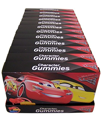 Disney Pixar Cars 3 Lightning McQueen Cruz and Jackson Storm Gummies (12 Pack)