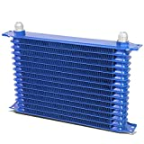 Universal Automotive Blue Aluminum 15-Row Engine & Transmission Oil Cooler