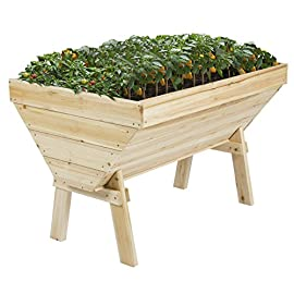 "Best Choice Products 4x3ft Wooden Elevated Vegetable Flower Bed Planter for Garden, Patio, Backyard - Natural 3 <p>Best Choice Products is proud to present this new Vegetable raised Garden Bed. Your family will love the taste of their home grown garden vegetables in this new garden bed. Our raised wooden bed is made of natural Chinese Fir Wood Solid & sturdy with robust construction. It has unique V shape allowing a variety of produce to be grown within the same lot. The joy of growing and snacking on organic fruits and vegetables grown from your own garden is like none other! However, many people have experienced the disappointment of finding their garden destroyed my snails or other garden pests while others have found that increasing back pain has prevented them the joy of gardening. The Vegetable raised Garden Bed has the solutions and the best choice for you! We purchase our products directly from the manufacturer, so you know you're getting the best prices available. FEATURES: Solid sturdy and robust construction, Easy to build, Comfortable working height, giving it a 360 degree access to the vegetables, Keeps any insects or bugs away from garden, Includes only a Unique V shape allowing to plant a variety on the same lot, Holds 4 (42L) bags of organic soil/ compost, Recommended to apply waterproof coding. SPECIFICATIONS: Product Dimensions: 48"" L X 31.5""W X 31.5""H, Weight: 40 lbs. Solid sturdy and robust construction Comfortable working height, giving it a 360 degree access to the vegetables Keeps any insects or bugs away from garden Includes only a Unique V shape allowing to plant a variety on the same lot Holds 4 (42L) bags of organic soil/ compost</p>"