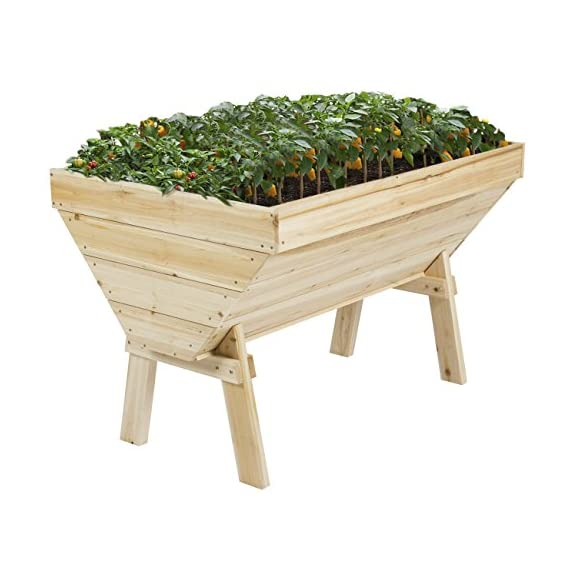 Best Choice Products 4'x3' Raised Vegetable Garden Bed Patio Backyard Grow Flowers Elevated Planter 1 Solid sturdy and robust construction Comfortable working height, giving it a 360 degree access to the vegetables Keeps any insects or bugs away from garden
