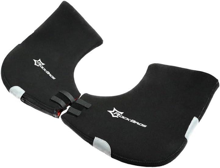 Hysenm Classic Waterproof Fabric Warm Keeping Reflective Durable Cycling Hand Guards Warmer Handlebar Gloves