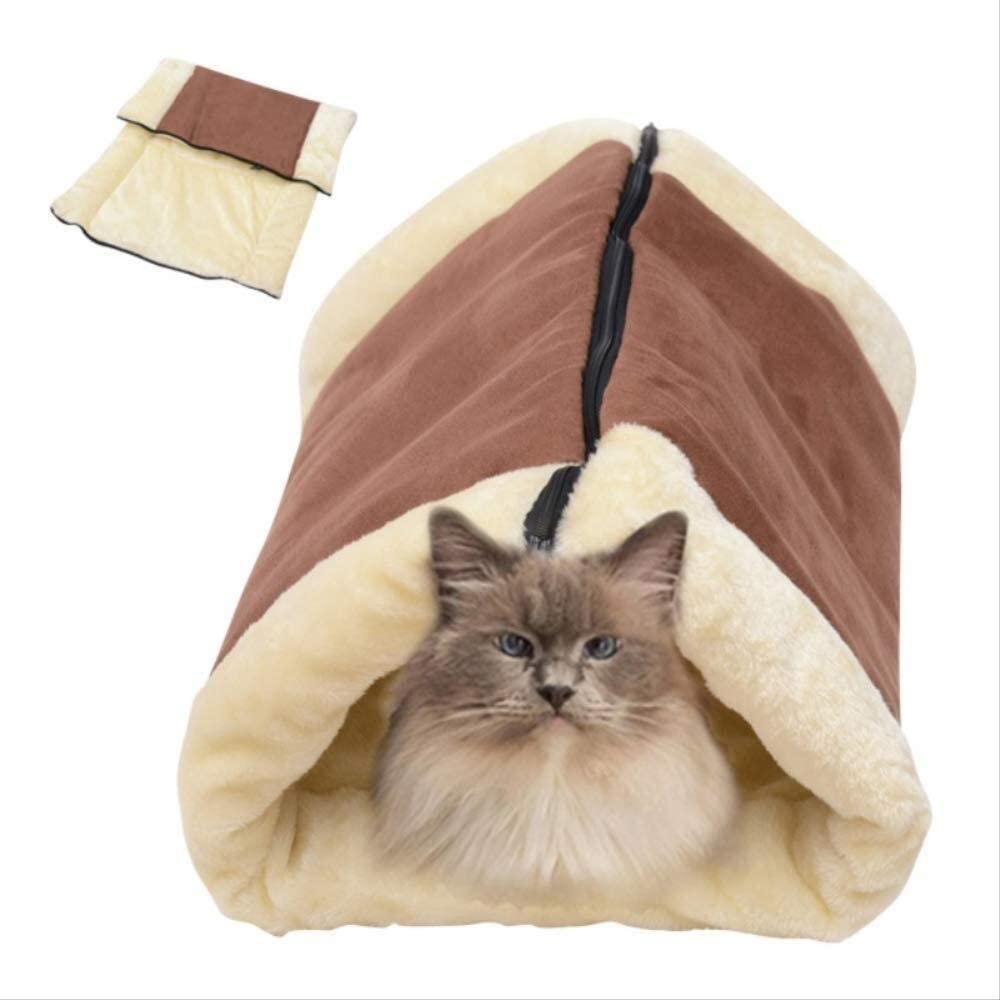 Foraging hamster Perro Mascota pequeña Suministros para Gatos Gato Manta para Dormir Gato Túnel Túnel Saco De Dormir Perrera Gato Arena Mascota Nido Saco De Dormir De Doble Uso Juguete del Gato Gato