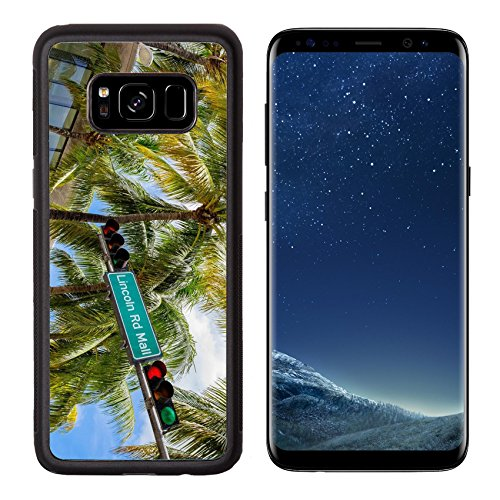 Liili Premium Samsung Galaxy S8 Aluminum Backplate Bumper Snap Case Lincoln Road Mall street sign located in Miami Beach - In Mall South Florida Beach
