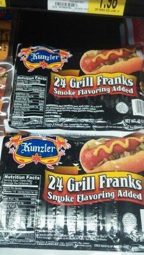 Kunzler: Grill Franks 3 Lb (2 Pack)