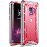 Galaxy S9 Rugged Case, Poetic Revolution [360 Degree Protection] Full-Body Rugged Heavy Duty Case with [Built-in-Screen Protector] for Samsung Galaxy S9 Pink/Gray