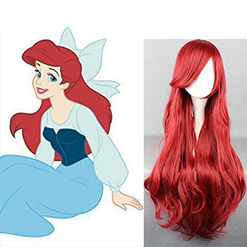 なりきり☆ 人魚姫 アリエル風ウィッグ フリーサイズ ハロウィン 演劇衣装 コスプレパーティーに♪の商品画像