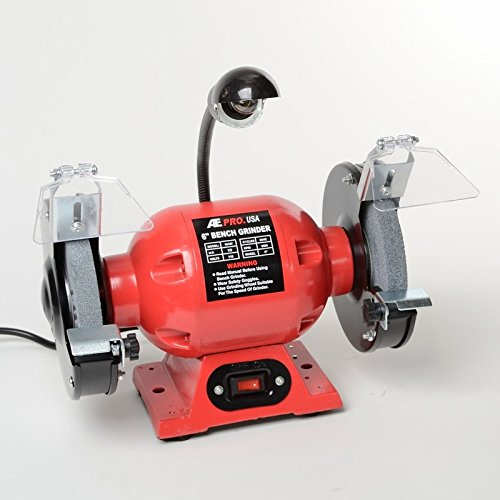 ATE Pro. USA 10107 6'' Bench Grinder UL with Light, 9.06'' Length, 10.24'' Width
