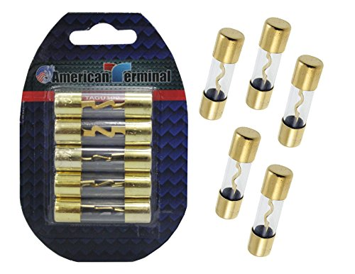 American Terminal TAGU150 AGU Fuses with Gold Plated Finish (Pack of 5) ()