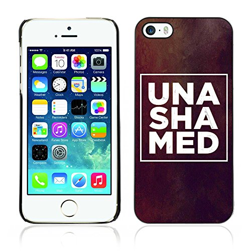 DREAMCASE Citation de Bible Coque de Protection Image Rigide Etui solide Housse T¨¦l¨¦phone Case Pour APPLE IPHONE 5 / 5S - UNSHAMED