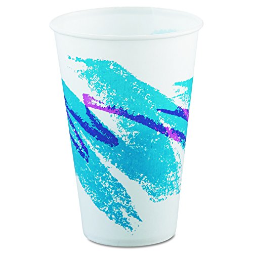 SOLO Cup Company R12NJ Jazz Waxed Paper Cold Cups, 12oz, Tide Design (Case of 2000)