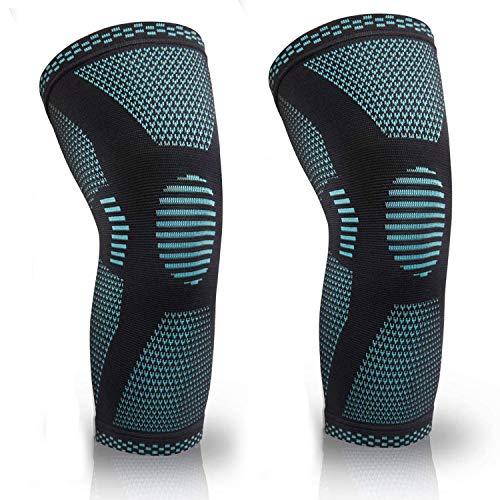2Pcs/Pack Basketball Knee Pads Leg Sleeves Cellular Football Volleyball Soccer Kneepad Calf Support Ski Cycling Leg Warmer