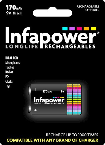 - Infapower 9V 170Mah Ni-Mh Rechargeable Battery 1-Pack B007