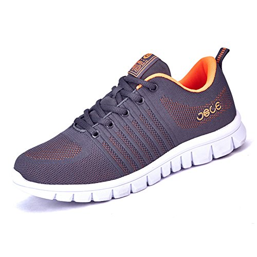 Up Knit Trail Sports Lace Grey M Leisure Shoes 5 Athletic D US Walking 9 Runner Mens Running wUHHxBAX