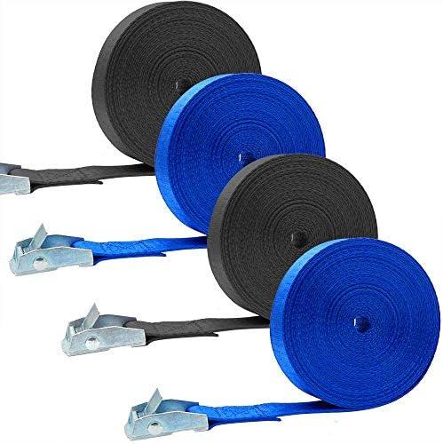 4本セット 荷締めベルト 荷締機 地震対策グッズ 荷締めバンド 締付固定 多用途