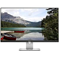 2017 Dell Professional 27 Full HD IPS 1920x1080 Widescreen LED Monitor at 60Hz, 16:9, 6ms, 250 cd/m2, 1000:1, 178°/178°, VGA, HDMI, USB 2.0, Headphone Jack, Speakers, VESA Mount, Black