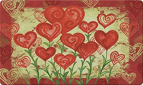 Toland Home Garden Garden Hearts 18 x 30 Inch Decorative Floor Mat Valentine Red Heart Flower Doormat – 800048