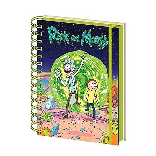 Genuine Rick and Morty Portal A5 Wiro Hardback