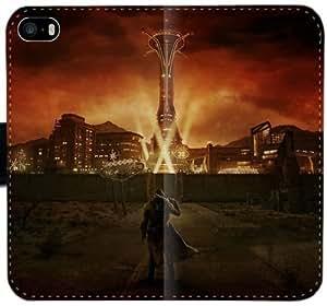 Caja del cuero de Fallout L8I6G Funda iPhone 4 4S funda de plástico wOi5yy personalizada del teléfono celular Funda caso del tirón