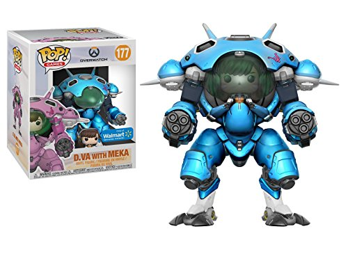 Pop! Overwatch - D Va with Meka, Blueberry, 15 CM Exclusive