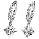 MACHEE Gold / Silver Plated Crystal Rhinestone Hoop Hook Earrings