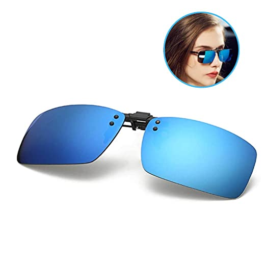 caa813b1a2 Polarized Clip-on Sunglasses with Flip Up Function Anti-Glare UV 400 Driving  Glasses