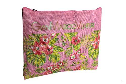 Borsetta mare sottobraccio Gian Marco Venturi l.flowers moda mare 43444 rosa