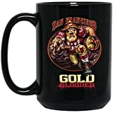 49er coffee cup - San Francisco 49ers Coffee Mug | 49ers Mug | Gold Blooded Player | 15 oz Ceramic Coffee Mug Cup Great For Tea & Hot Chocolate | NFL NFC Football | Perfect Unique Gift Idea For Any SF 49er Fan